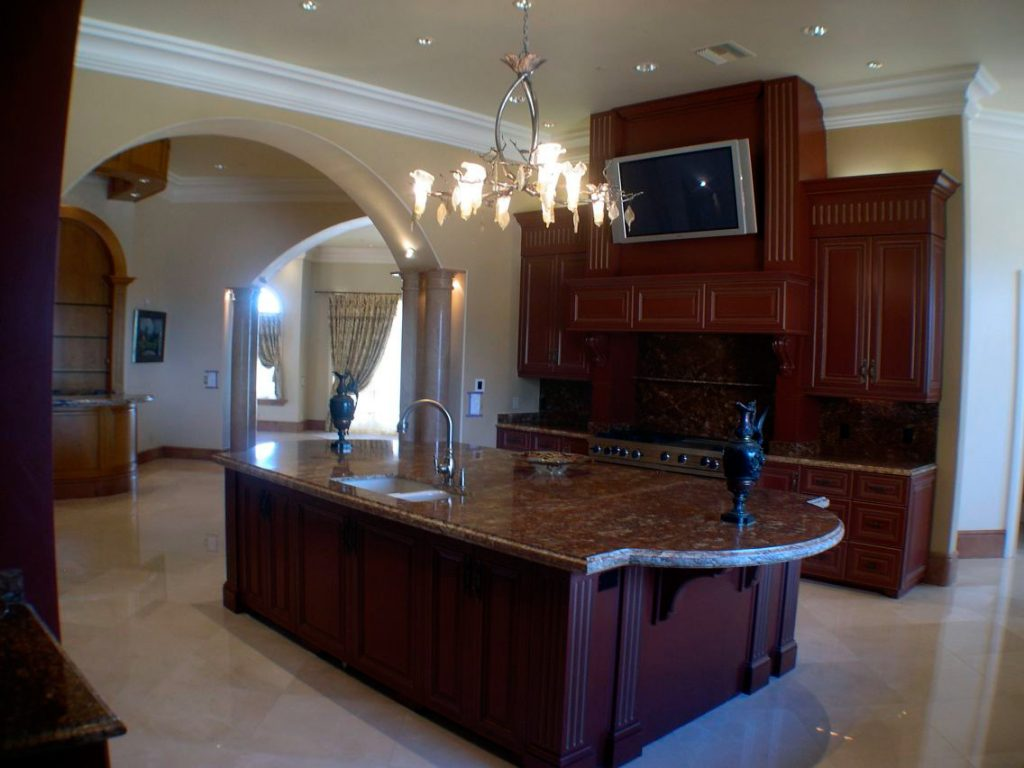 Home Theater Systems San Luis Obispo - Raymond Earl Design - kitchen television and sound system