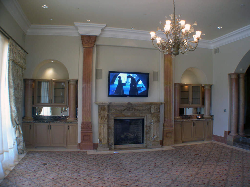 Home Theater Systems Paso Robles - Raymond Earl Design - cambria castle tv by pillars
